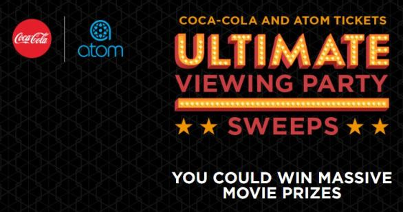 Coca-Cola and Atom Tickets Ultimate Viewing Party Sweepstakes