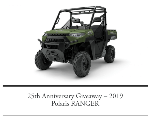 Cowboys and Indians 25th Anniversary Polaris Ranger Giveaway