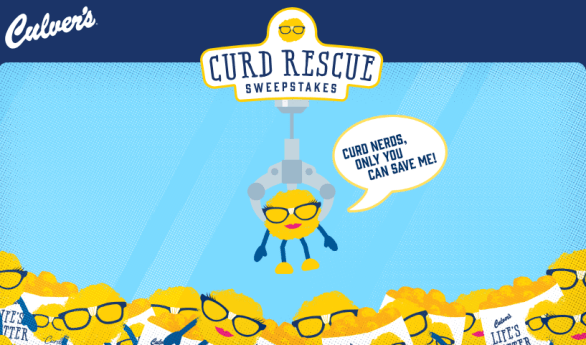 Culvers Curd Rescue Sweepstakes Game