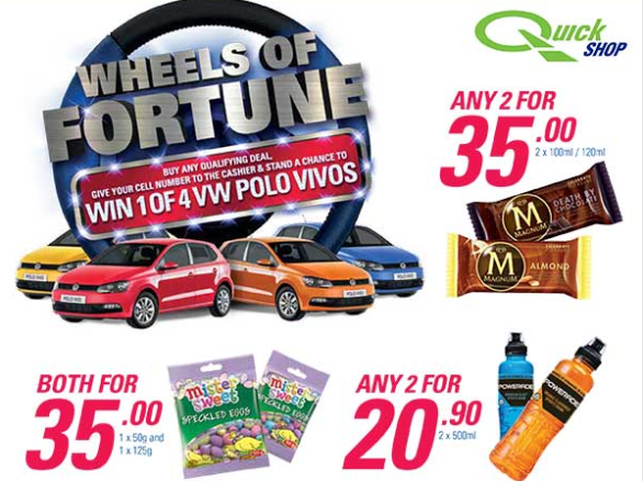 Engen QuickShop Wheels of Fortune Competition