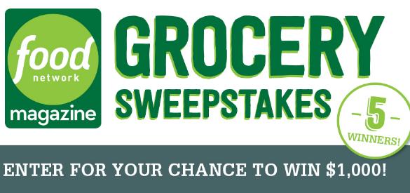 Food Network Grocery Giveaway Sweepstakes
