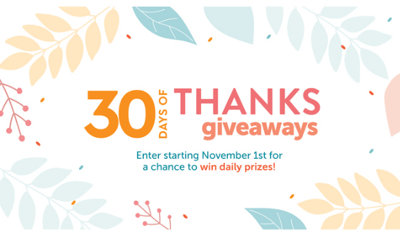 HGTV 30 Days of Thanks Giveaway Sweepstakes