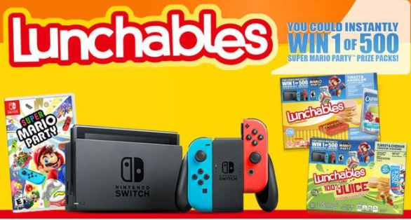 Lunchables Mario Party Sweepstakes