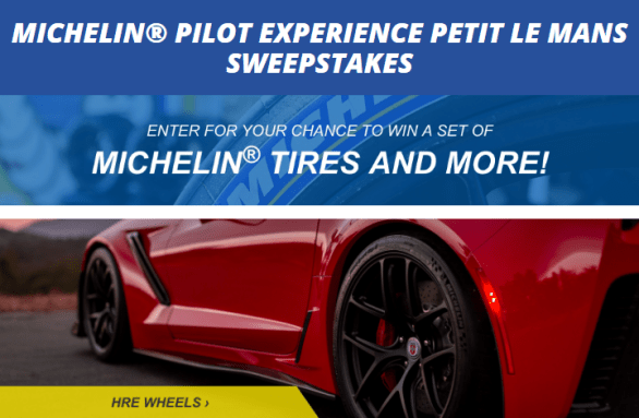 Michelin Pilot Experience Petit Le Mans Sweepstakes