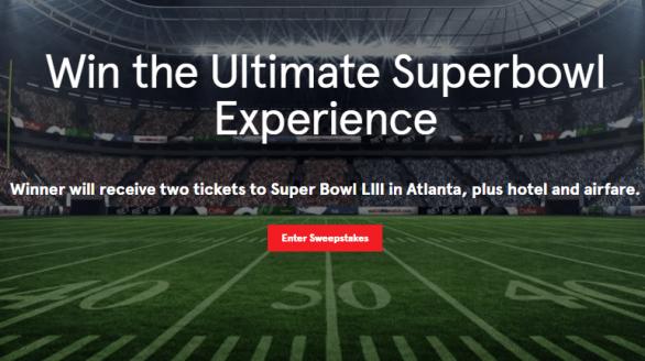 Momentous Super Bowl Sweepstakes