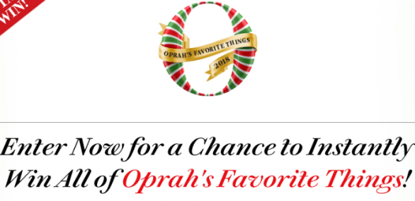 Oprah Favorite Things Instant Win Sweepstakes