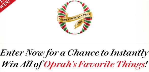 Oprah Favorite Things Instant Win Sweepstakes