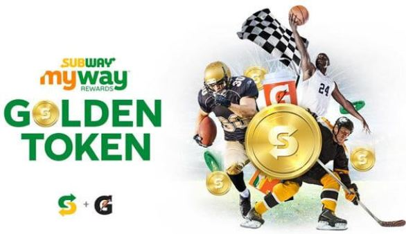 Subway Golden Token Instant Win Game Sweepstakes