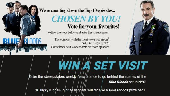 WGN America Blue Bloods Sweepstakes