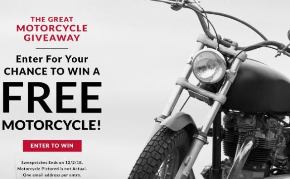 Wilsons Leather Great Motorcycle Giveaway Sweepstakes