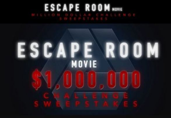 Escape Room Movie Challenge Million Dollar Sweepstakes