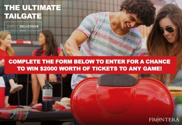 Frontera Wine Ultimate Tailgate Sweepstakes