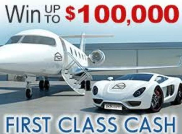 PCH Win $100,000 First Class Cash Sweepstakes