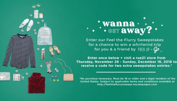Rue21 Pack Up and Go Sweepstakes