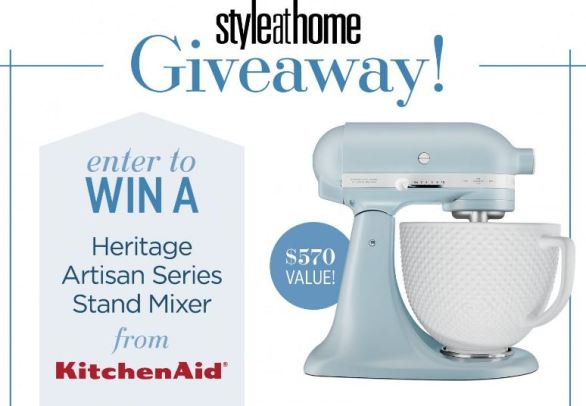 Style At Home Kitchenaid Stand Mixer Giveaway Contest