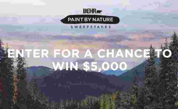 BEHR-Paint-By-Nature-Sweepstakes