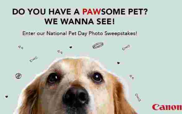Canon-Pet-Day-Sweepstakes