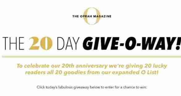 OprahMag-20-Days-Giveaway