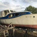 Boot geheel schuren en nieuw in de lak, fouling