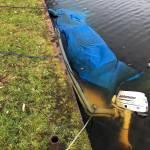 Gezonken sloep 5 meter Leiden bergen