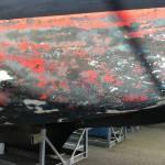 onderwaterschip dufour 29 kaal maken