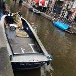 Stalen sloep 8,5 m schilderen Amsterdam