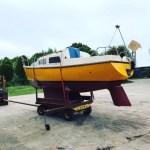 Transport zeilboot 7 m 1800 kg kimkieler Boskoop - Franeker