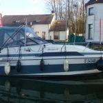 uitwaterhaling en vervoer  ambassador 255 xl, 8m 60nm lengte en ongeveer 3 ton, binnenmotor, ligplaats België Oost-Vlaanderen