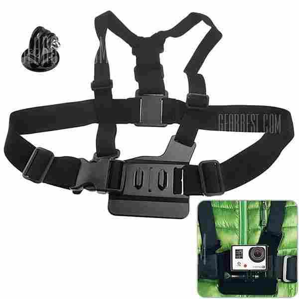 offertehitech-gearbest-Elastic Chest Strap Mount Belt Camera Mount Adapter Kit for GoPro Hero 3/2/1