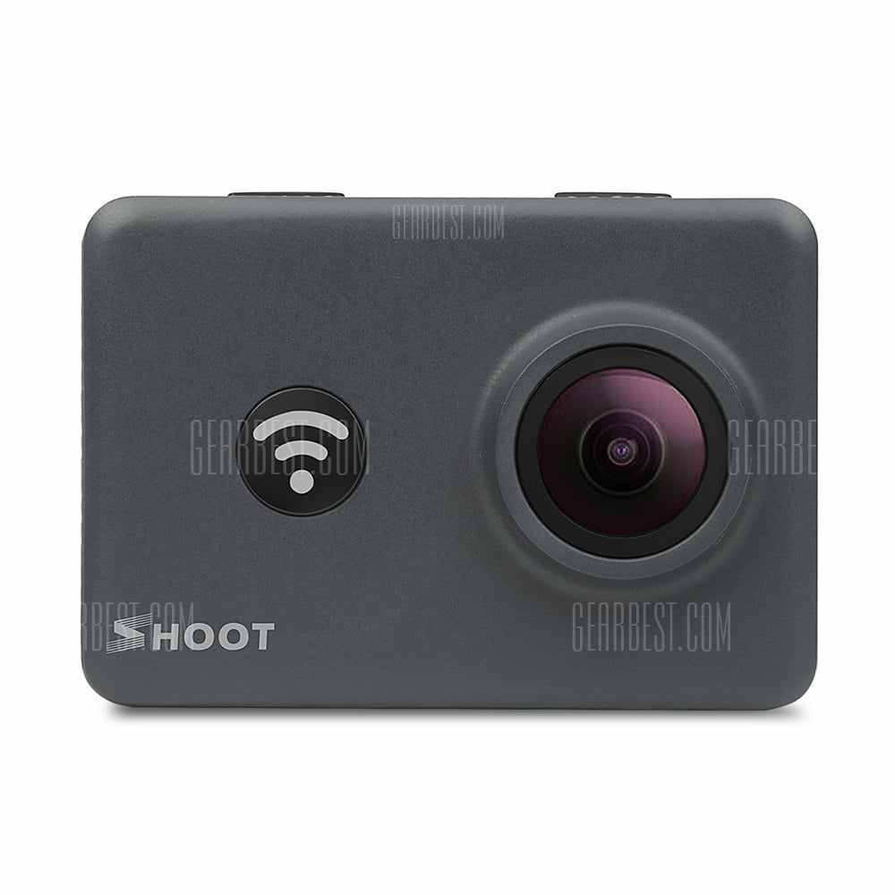 offertehitech-gearbest-SHOOT Action Camera 14MP 4K WIFI 170 Degree Ultra Wide-Angle Lens Outdoor 1080P  Bundle with 2 Pcs Rechargeable Batteries and Waterproof Small Carrying Case
