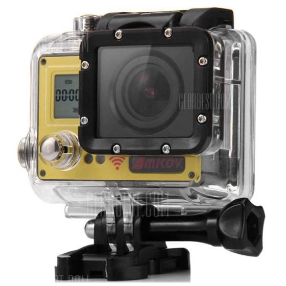 offertehitech-gearbest-Amkov AMK7000S 4K Ultra HD WiFi Action Camera