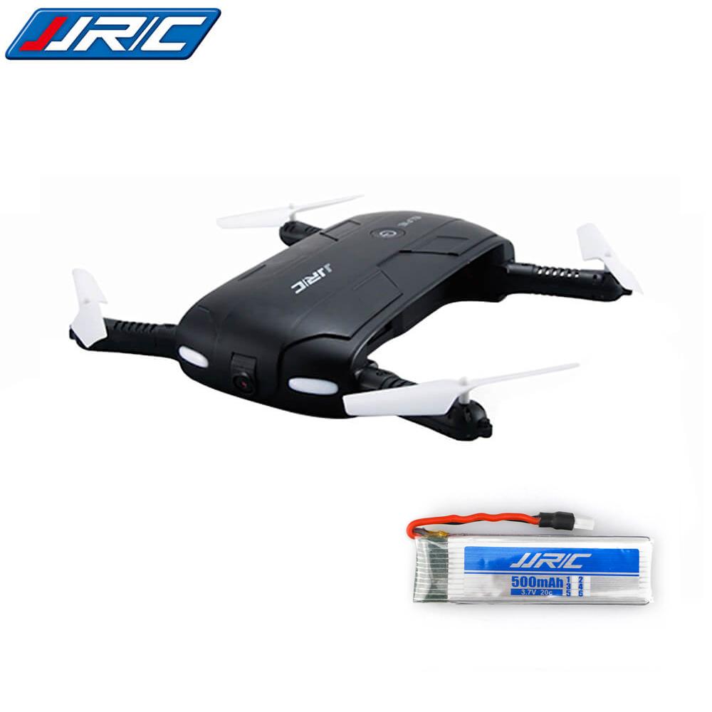 offertehitech-Bundle JJRC H37 Elfie Foldable Pocket Selfie Drone Black + Extra 3.7V 500mAh Battery