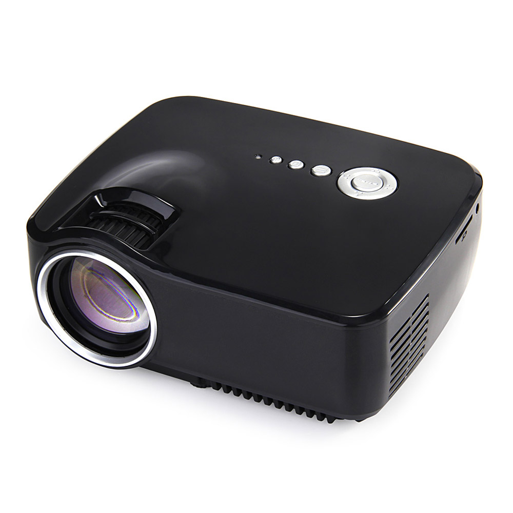 offertehitech-GP70 Mini LCD 1200LM LED Theater Home Projector HDMI 1080P FHD SD USB TV Beamer