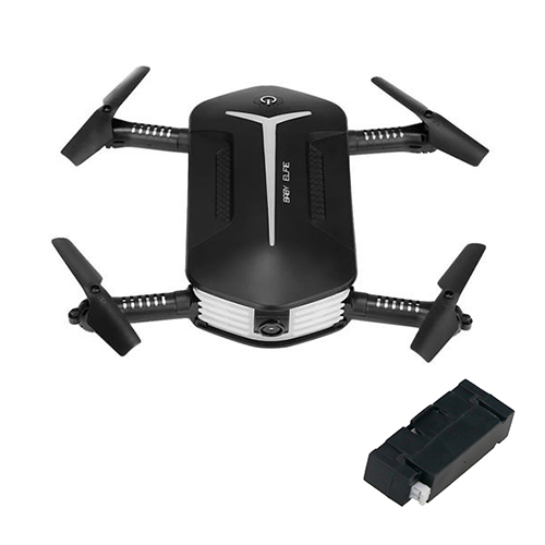 offertehitech-JJRC H37 Mini Baby Elfie WIFI FPV Foldable Drone + Extra 3.7V 400mAh Li-po Battery - Black