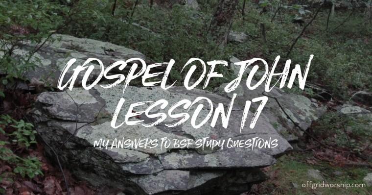 John Lesson 17, John Lesson 17 Day 4,John Lesson 17 Day 2,John Lesson 17 Day 3,John Lesson 17 Day 5 Day 6