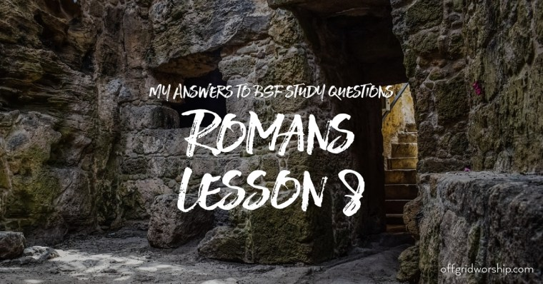 Romans Lesson 8 Day 5,Romans Lesson 8 Day 4,Romans Lesson 8 Day 3,Romans Lesson 8 Day 2