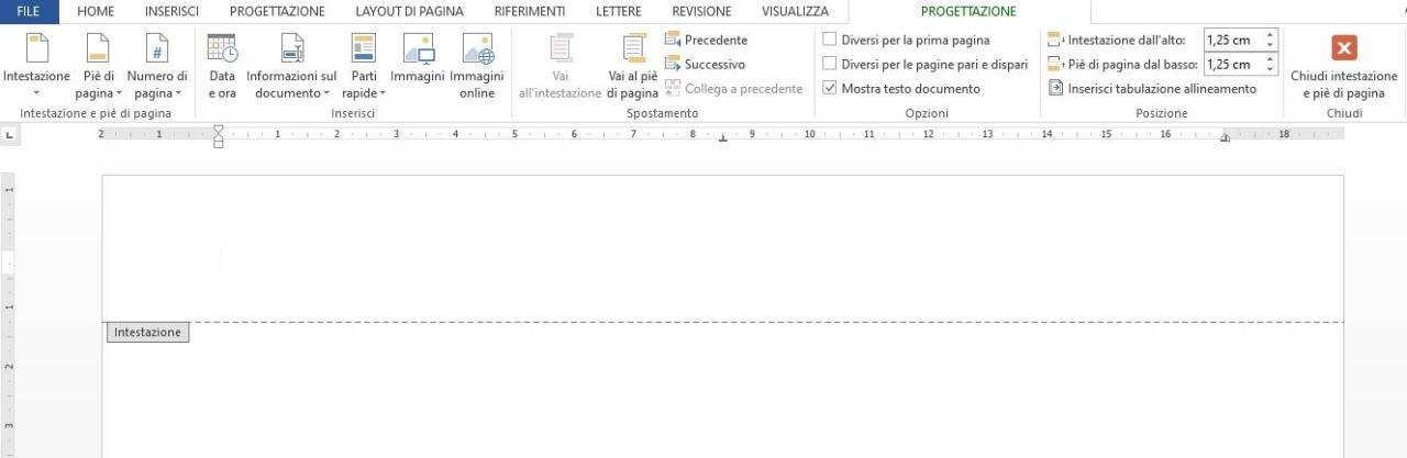 Office online - intestazione