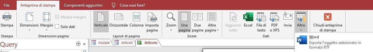 Office online - convertire un report in Word 02