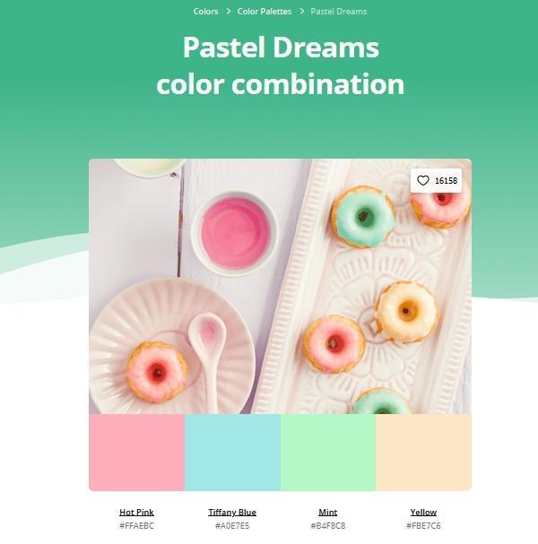 Office online: palette pastel dreams Canva