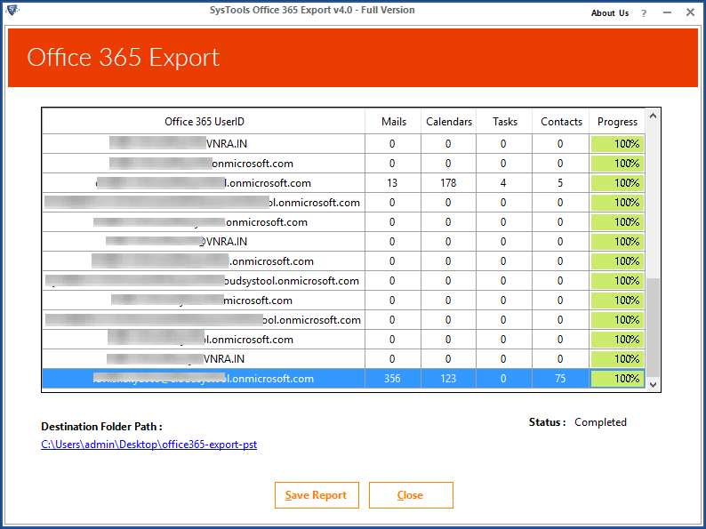 Office 365 Export Process