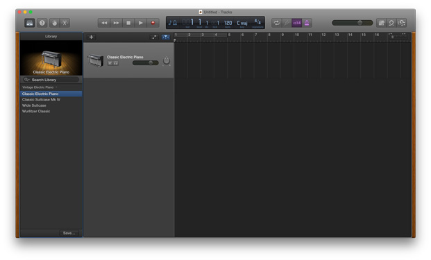 GarageBand Transpose - new track
