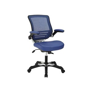 Modway Attainment Office Chair with Blue Mesh Back and Leatherette Seat Review