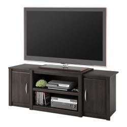 An eye-catching focal point for your living room or entertainment area  Use the ample storage to organize and display electronics or decorative items.  Maximize your space and keep your equipment accessible, organized and clutter free.  Available in a variety of designs and finishes to fit any decor.  Sturdy construction means this piece will be a lasting part of your home.  Assembly is required.  Backed by the manufacturer's 1-year limited warranty.