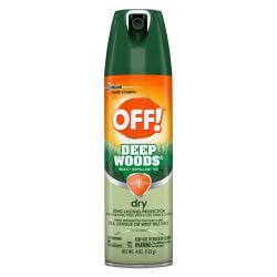 Insect repellent features an advanced formula with DEET to provide long-lasting protection from mosquitoes, ticks, biting flies, gnats and chiggers. Nongreasy design goes on dry to prevent your skin from feeling oily or sticky. Aerosol spray allows you to accurately apply this repellent in a continuous sweeping motion for effective coverage. Insect repellent is perfect for use when fishing, hiking, hunting, camping and more. Keep pests away all day with this long-lasting dry insect repellent. The nongreasy formula keeps your clothes clean and helps you stay comfortable.  Repels a variety of insects for up to 8 hours. Long-lasting repellent wards off ticks, mosquitoes, black and sand flies, chiggers, fleas, gnats and no-see-ums.  25% DEET formula delivers effective performance.  Nongreasy liquid resists perspiration for all day, comfortable wear.  Aerosol container for easy application.  Unscented to avoid irritation.