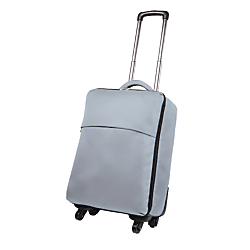 Riley Co. Foldable Spinner Luggage, 21 1/2in.H x 14in.W x 8in.D, Grey
