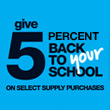 Office Depot 5% Back to Schools