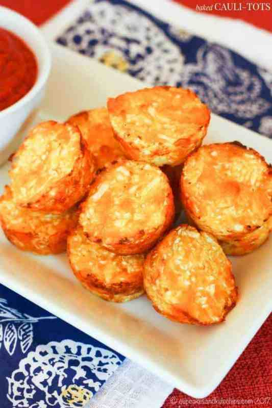 cauliflower tater tots as a healthy snack for work
