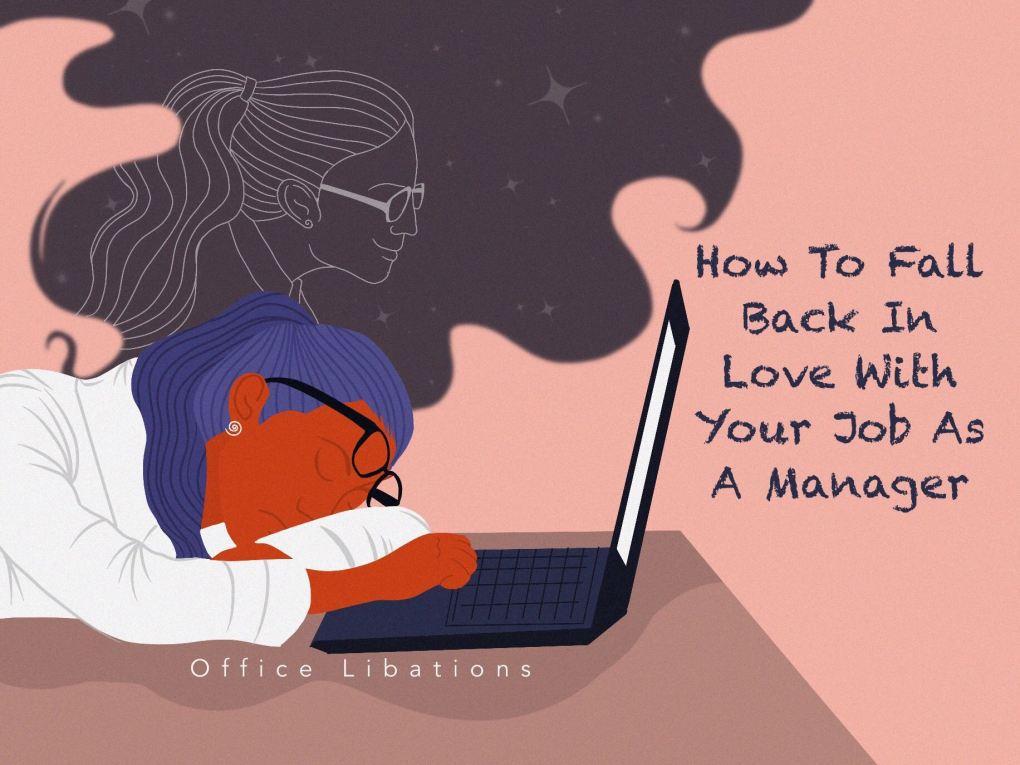 office worker feeling overworked