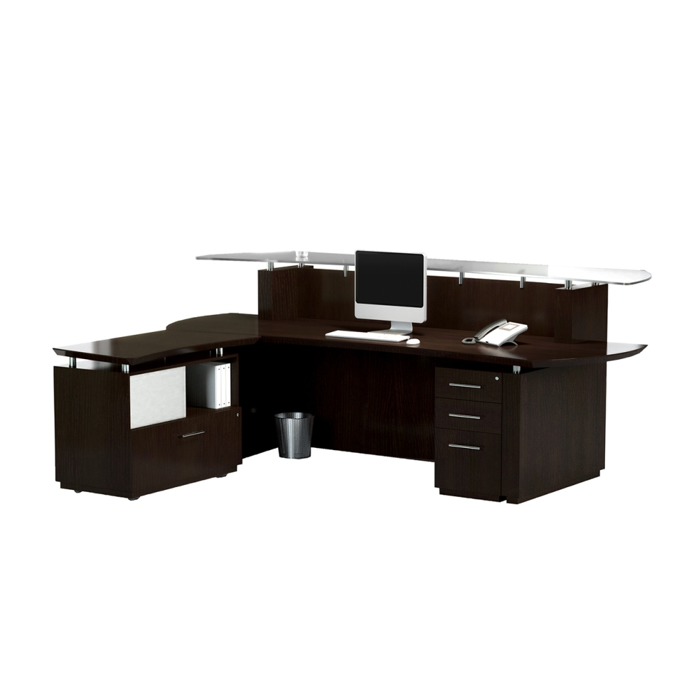 Mayline Sterling Reception Desk With Return And Peds 3