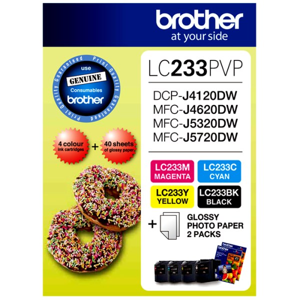 Brother LC-233 Ink Cartridges Photo Value Pack